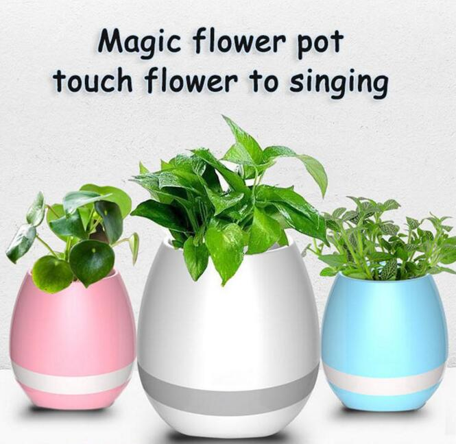 Music Flower Pot with LED Speaker Bluetooth