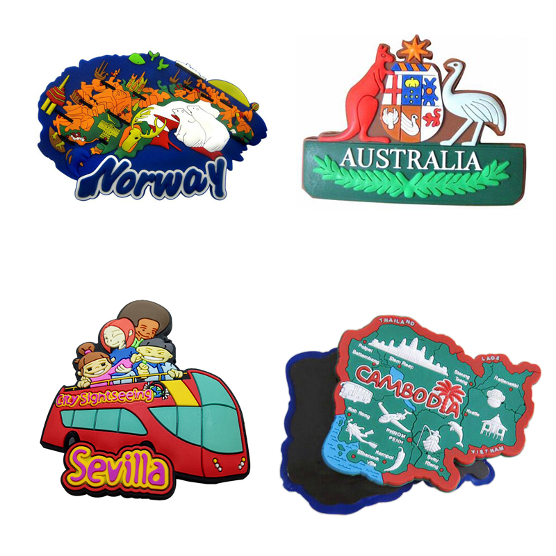 3D Soft PVC Fridge Magnet