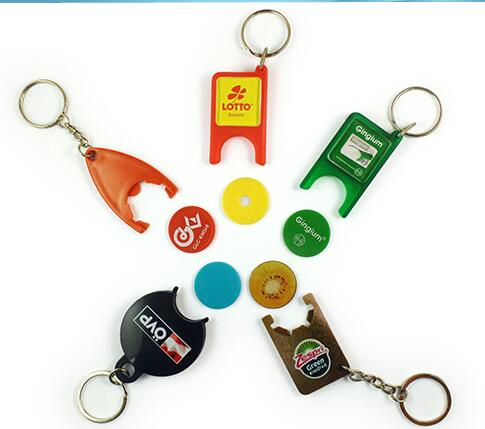 Plastic Token key chain